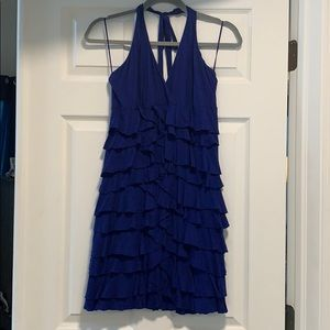 Cobalt blue multi tier Express dress